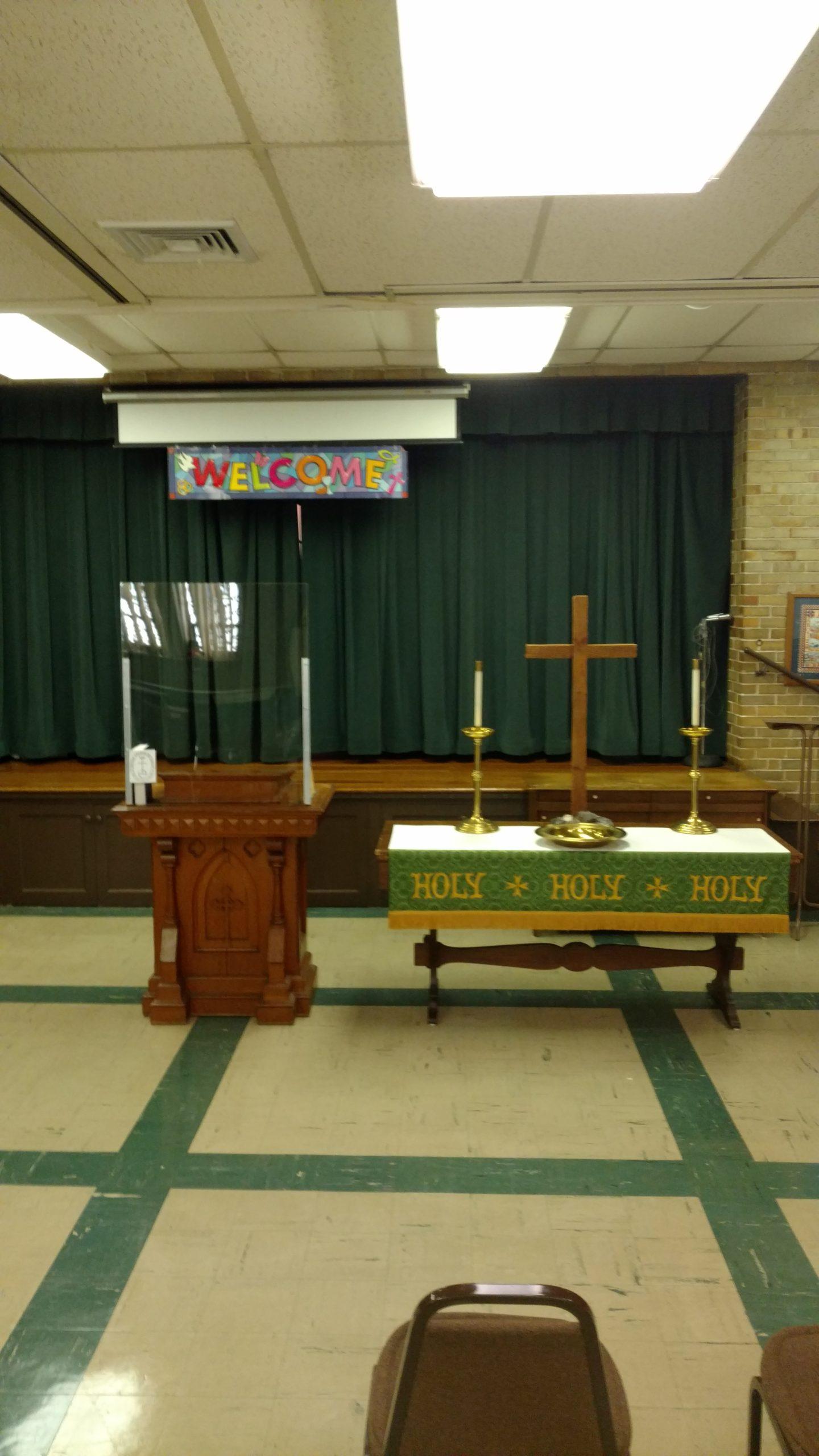 Fellowship Hall Pulpit